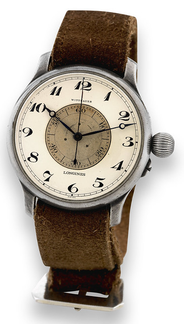Longines Weems Silver Aviator's Watch for Wittnauer 1932