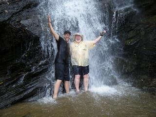Standing under Mill Creek Falls