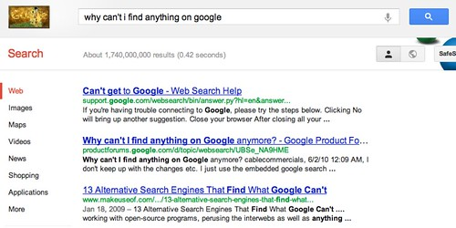 Can't Find Anything