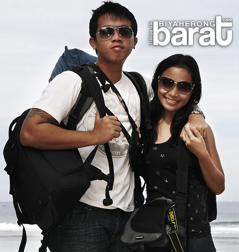 Me & Bebeng in Patar White Beach Bolinao