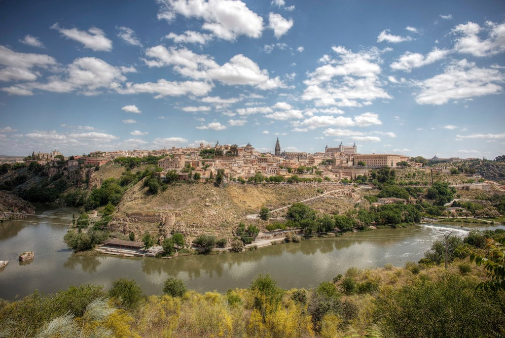 Toledo Spain from the outer bank of the Tagus River.