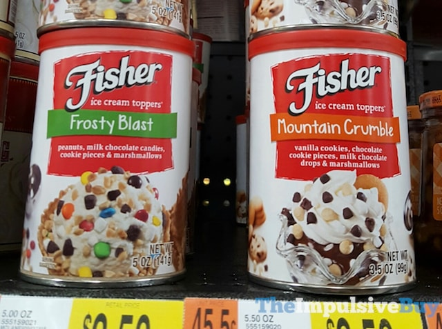 Fisher Frosty Blast and Mountain Crumble Ice Cream Toppers