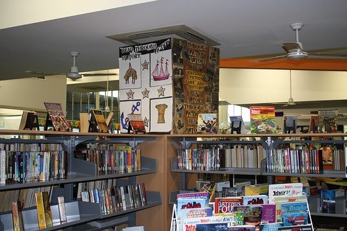historical fiction display by franlhughes