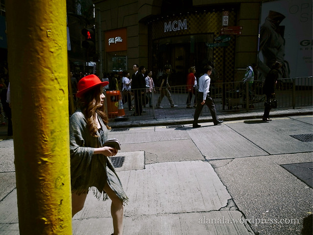 Fashionable Lady with a red hat