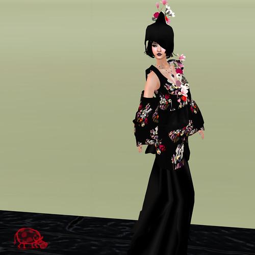 AD Creations kimono skull black wedding