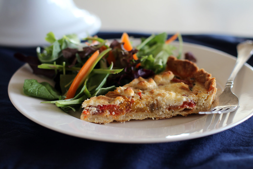 provencal pepper and goat cheese tart