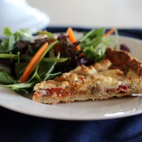Roasted Pepper, Prosciutto and Goat Cheese Tart