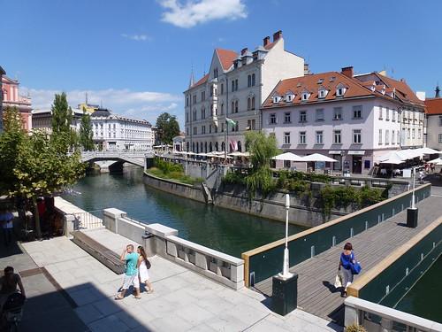 Along the Ljubljanica River