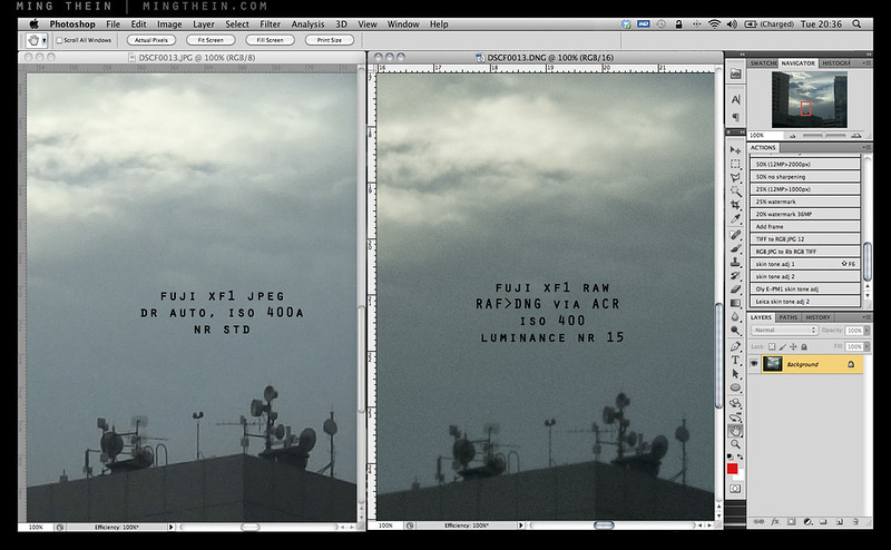 Fuji XF1 RAW vs JPEG