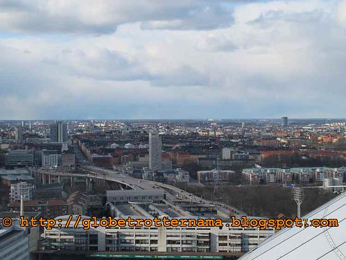 Stockholm skyline atop Sky view