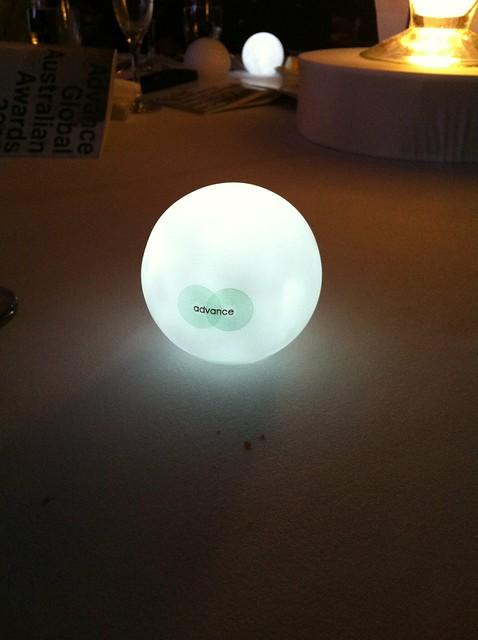 The new Advance logo on an idea bulb