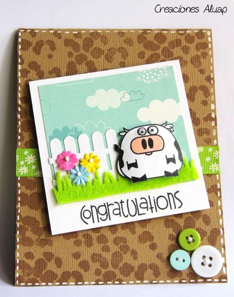 tarjeta vaca chubby - chubby cow card