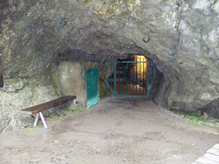Entrance to the caves at Seythenex