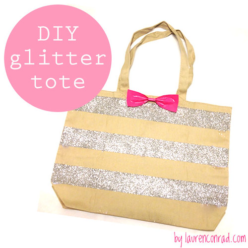 Crafty Creations: DIY Glitter Tote Bag