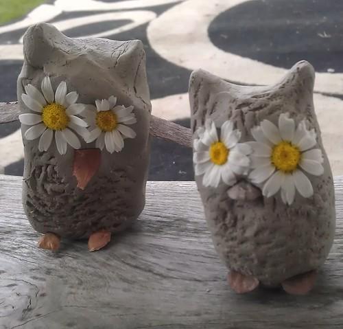 Cute Clay Owls