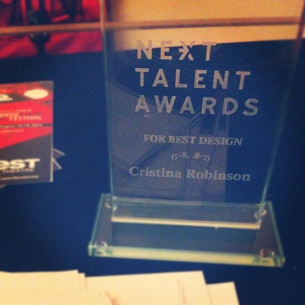Won Best Design for LovelyGeek.net at the Next Talent award show!