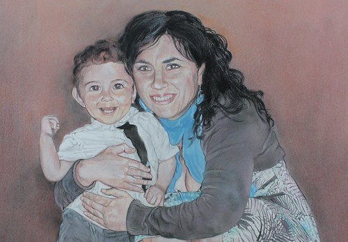 Détail du portrait - Christelle & Esteban