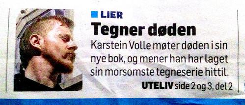 Drammens tidende - forsidenotis by Karstein Volle