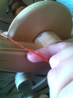 Autumnal yarn closeup