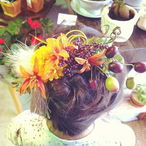 今日からの教室の花の髪飾り。 - 無料写真検索fotoq