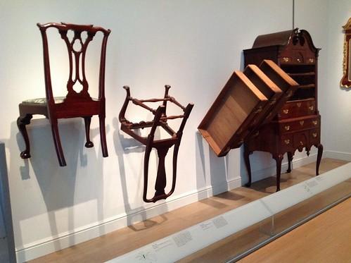Replica furniture at the MFA Boston