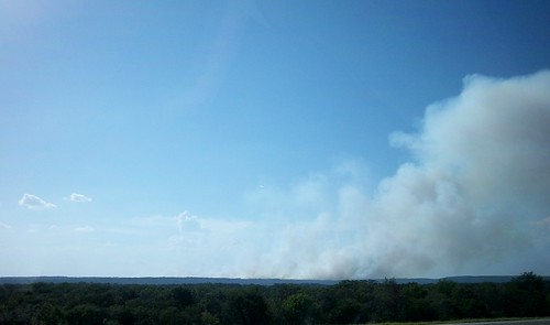 fire in SE Oklahoma mountains