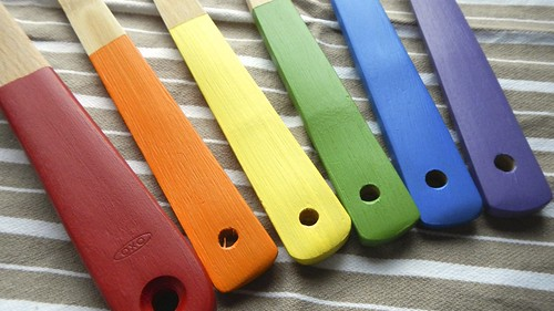 Rainbow Wooden Spoons 13