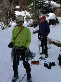 Doug Ready To Lead an Ice Climb