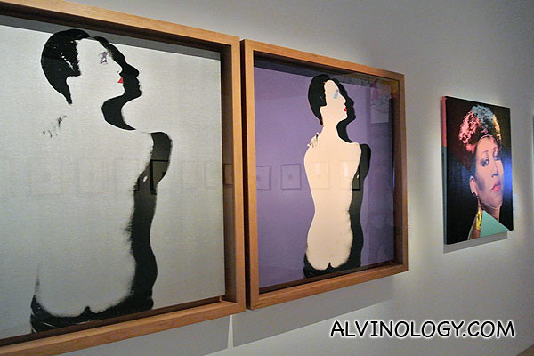 A few of the Andy Warhol exhibits
