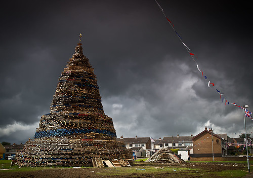 11th Night Bonfire, Antrim Town, Northern Ireland