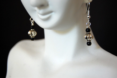 Obsidian Lantern Earrings