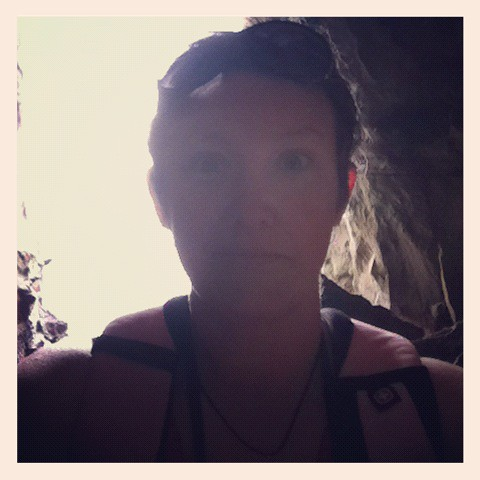 me, in a cave, not dying