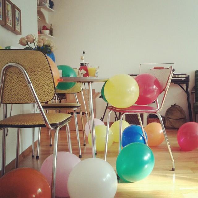 Birthday morning.