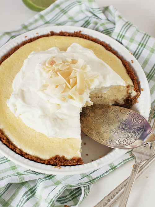 key lime pie with homemade graham crackers