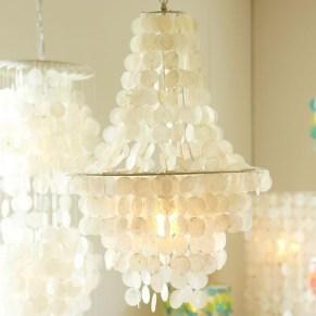 capiz shell chandelier pb teen