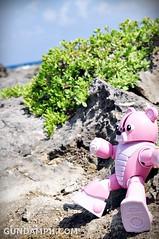 Pink Bearguy at White Rock Formation - Kapurpurawan Beach