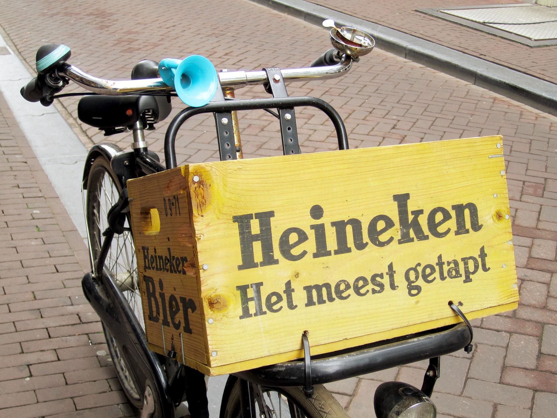 Heineken delivery bike, Amsterdam.