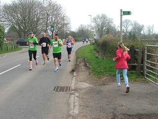 Half marathon passes cottage