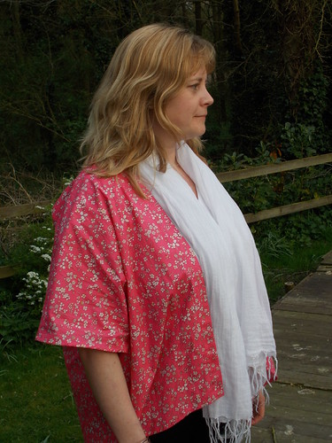 blush pink kimono sleeve jacket