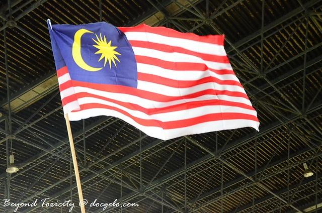 malaysian flag at the border