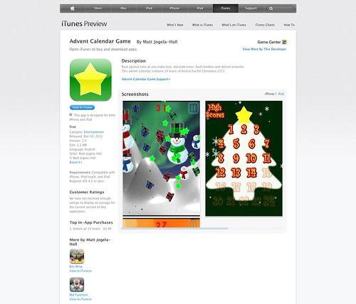 Twitter Advent Calendar: Day 8, Games, pt 1
