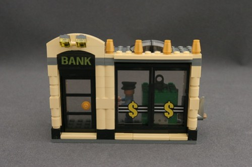 6864 The Batmobile and the Two-Face Chase - Bank 1