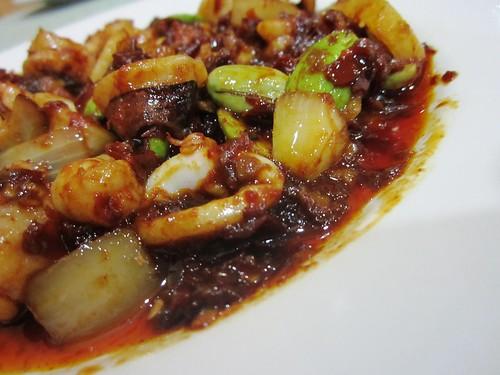 Sambal seafood with petai