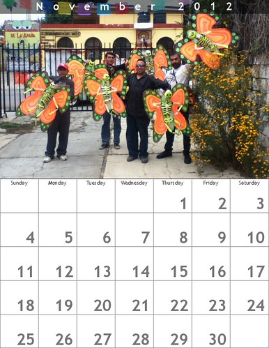 Oaxaca Calendar 2012: November