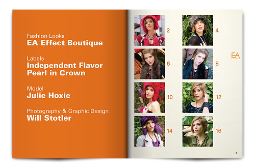 Look Book Graphic Design Project - EA Effect - Inside Cover and Page 1