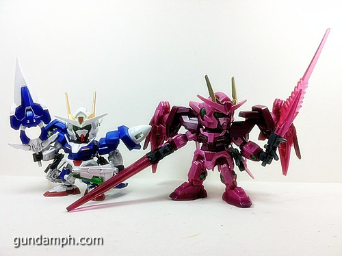 SD Gundam Online Capsule Fighter Trans Am 00 Raiser Rare Color Version Toy Figure Unboxing Review (46)