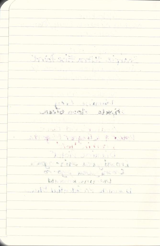 Moleskine Academic Planner for 2012 - Written Sample (Reverse)