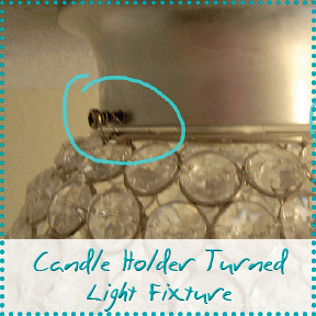 candle holder turned light fixture