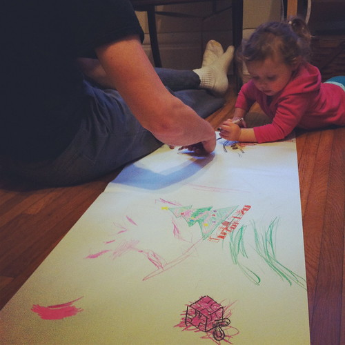 drawing with dad