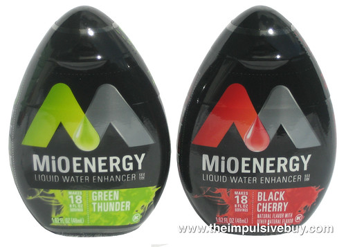 MiO Energy Liquid Water Enhancer (Black Cherry and Green Thunder)